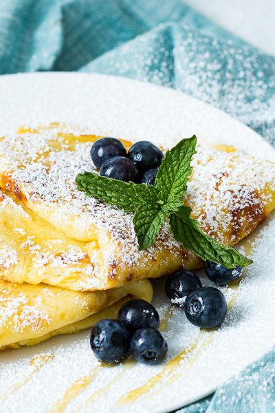 Up close of pancakes