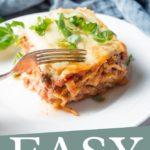 Lasagne Recipe with Bechamel