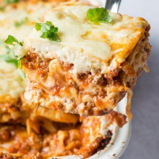 Lasagna Recipe with Bechamel